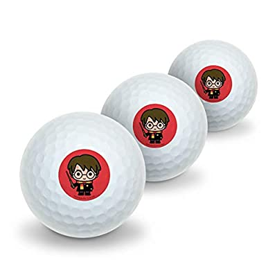 GRAPHICS & MORE Harry Potter Cute Chibi Character Novelty Golf Balls 3 Pack