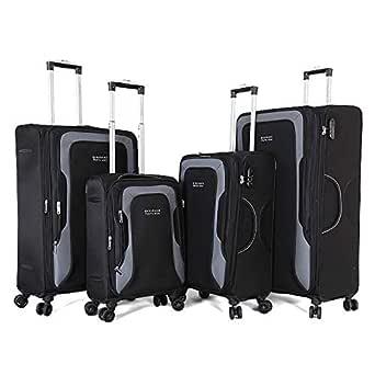 Giordano Luggage Trolley Bags Set,4 Pieces,Black,850801