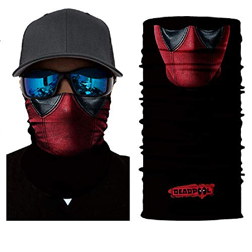 3D Deadpool Face Tube Neck Face Scarf Lower Half Face Mask Motorcycle Bicycle Shield Sun Air Soft Outdoor Biker Riding Masks No.42 -