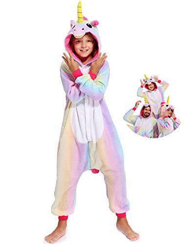 Kids Onesies Unicorn Pajamas Halloween Costume One Piece Cosplay for Girls -
