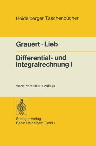 Differential- und Integralrechnung I: Funktionen Einer Reellen Veränderlichen (Heidelberger Taschenbücher) (German Edition)