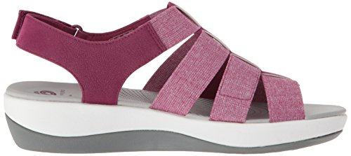 CLARKS Womens Arla Shaylie Platform, Deep Fuchsia Heathered Elastic, 7.5 Medium US