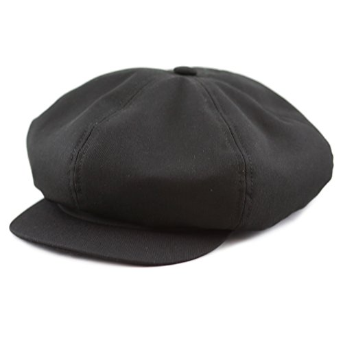 THE HAT DEPOT 100% Cotton Plain Blank 6 Panel Newsboy Gatsby Apple Cabbie Cap Hat Made In USA - Gatsby Usa