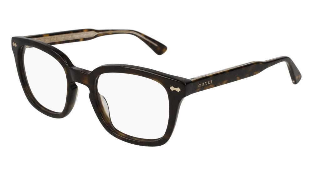 Gucci GG 0184O 002 Havana Plastic Square Eyeglasses 50mm by Gucci