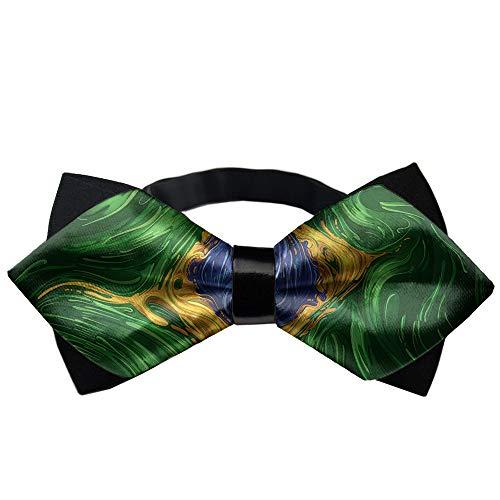 MrDecor Brazil Flag Psychedelic Formal Pre-Tied Bow Tie