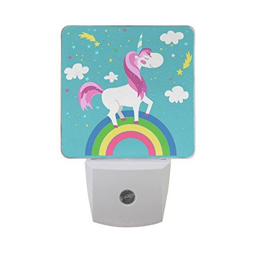 JOYPRINT Led Night Light Cute Animal Rainbow Unicorn, Auto Senor Dusk to Dawn Night Light Plug in for Kids Baby Girls Boys Adults Room by JOYPRINT