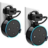 Wall Mount Hanger Holder Stand for Echo Dot 2nd Generation And Some Round Speakers,Without Messy Wires Or Screws,A Space-Saving Solution for Your Smart Home Speakers (Black,2-Pack)