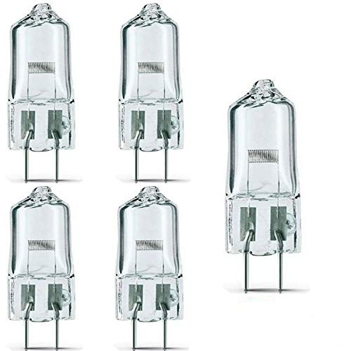 ((Pack of 5)- FCS 150W/T4/24V/CL/G6.35 150-watt 24-Volt Bi-Pin Based Stage and Studio T4 Bulb Light Lamp Halogen, Clear/for Projector Stage Slide & Movie Projection )