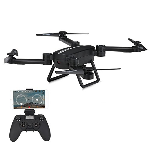 Goolsky Foldable Drone with WiFi Camera,Altitude Hold, Gravity Sensor and Headless Mode Function 2.4GHz 4CH 6-Axis Gyro RC Quadcopter