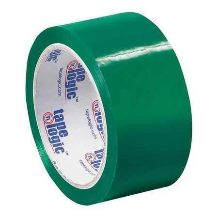 Carton Sealing Tape, 2x55 yd, Green, PK18