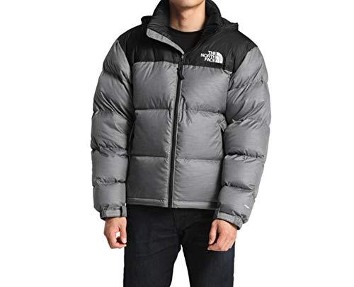 - The North Face Men Novelty Nuptse Jacket Mid Grey Heather/Black X-Large