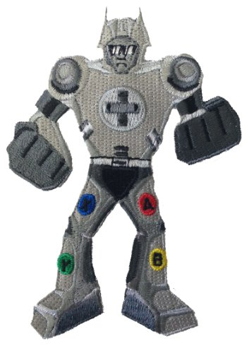 Video Game Controller Robot w/ Buttons Novelty Iron On Patch Applique