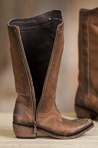 Frihet Svarte Kvinners Distressed Lær Cowboy Boots