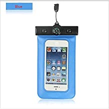 Compass Water Proof Diving Bag For iphone4 4s 5 5s Portable Outdoor WaterProof Pouch ( Color : Blue )