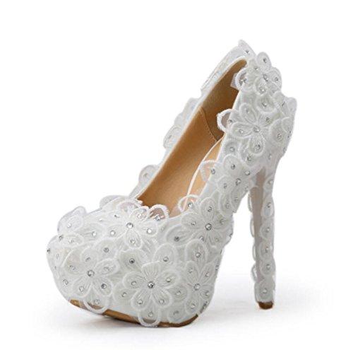 Solo Zapatos Novia Impermeables Cabeza Ronda Plataforma De Estilete Linyi 14cm Boda Rhinestone La z6cgx68qF