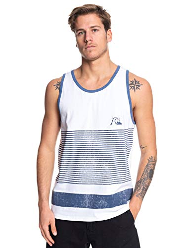 (Quiksilver Mens Tijuana Stripe Mj0 Tank White M)