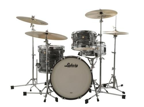 Ludwig Classic Maple Downbeat 20 Drum Shell Pack - Vintage Black - Drum Kit Maple Classic