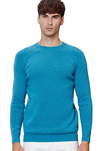 织礼 Zhili Cashmere Men's Crew-Neck Sweater Sky ()