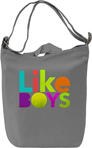 Likes Boys Borsa Giornaliera Canvas Canvas Day Bag| 100% Premium Cotton Canvas| DTG Printing|
