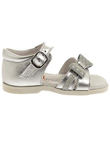 ANDANINES Sandale Ni bis 181101 Heel Tie Silber Silber