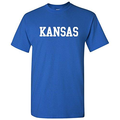 AS01 - Kansas Jayhawks Basic Block T-Shirt - Large - Royal ()