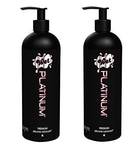 - Wet Platinum Premium UrRwRv Silicone Lubricant, 15.7 fl.oz, 2 Pack