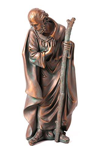 Evergreen 3-Piece Bronze Finish Mary, Joseph and Baby Jesus Outdoor Safe Garden Nativity Set by Evergreen Flag & Garden (Image #1)