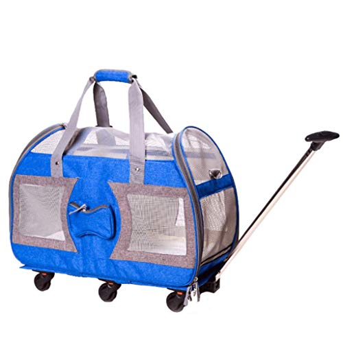 HAOCAI Pet Trolley Pack Convenient Folding Separated Cat and Dog Tote Outdoor Party Supermarket Travel Pet Car -