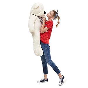 MorisMos Giant Cute Soft Toys Teddy Bear for Girlfriend Kids Teddy Bear (White, 47 Inch) (Color: White, Tamaño: 47 Inch)