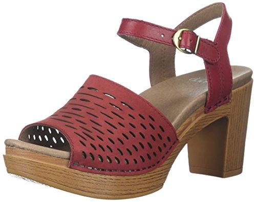 Sandalo Con Tacco Donna Denita Sandalo Rosso Nabuk