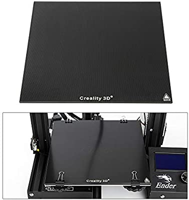 creality 3d ender3 Heat Bed Glass Plate grosor 4 mm ultra Base Autoadhesivo construir superficie tablero de cristal 235 x 235 mm, para central de 3 ...