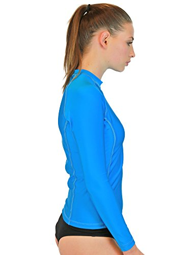 Rash Guard Women Long Sleeve - Womens Swim Shirt - MADE IN USA - ON SALE TODAY - Goddess Rash Guards Are The Ultimate Athletic Compression Shirt. Perfect for Workouts, Crossfit, Swimming, Surfing, Biking and Even Running. Some Goddess's Use Them As Swimsuit or Bathing Suit Coverups. Great For Sun Protection at the Beach, Lake or Wherever You Decide to Be Working out or Relaxing in the Sun. Size's available include XS, Small, Medium, Large, XL. (Turquoise, Medium)