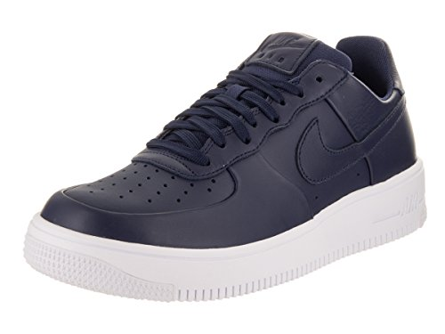 Nike Mens Air Force 1 Scarpa Da Basket Ultraforce In Pelle Binario Blu / Bianco Blu Binario