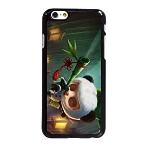 S1I26 League of Legends Panda Teemo X8V2EJ funda iPhone 6 4.7 pufunda LGadas funda caja del teléfono celular cubre XC1NDI3JA negro