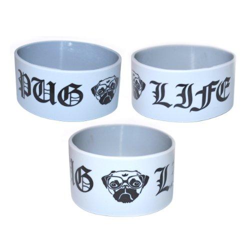 PUG LIFE - Dog Silicone Wristband (Grey)