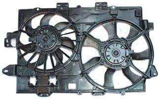 TYC 621670 Chevrolet/Pontiac Replacement Radiator/Condenser Cooling Fan Assembly