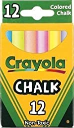 Crayola Chalk, Assorted Colors, 3 X 12 Sticks Per Box (36 Chalks)