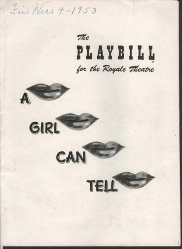 A Lass Can Tell Playbill 12/7/53 Janet Blair Paul McGrath Tod Andrews