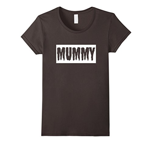 Female Pirate Outfit Ideas (Womens FUNNY HALLOWEEN MUMMY T-SHIRT [OUTFIT & COSTUME/GIFT IDEA] Small Asphalt)