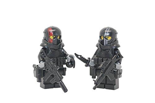 Modern Brick Warfare Army of Two Military Contractors Custom Minifigures (Lego Custom Minifigures)