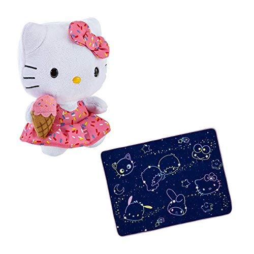 Multiple Hello Kitty Plush Stuffed Animal Toy and Sanrio Space Blanket Bundle