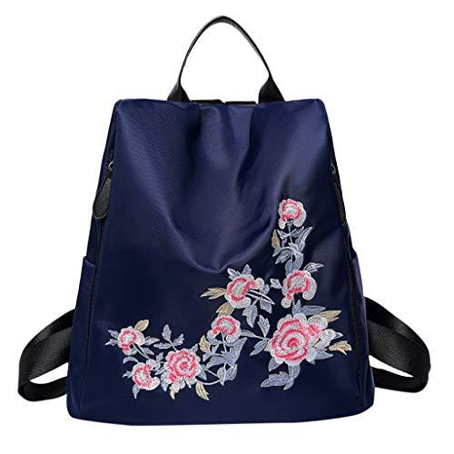 - DDKK bags Oxford Waterproof Embroidered Large Capacity Backpack Handbag-Women Backpack Purse PU Leather Anti-Theft Backpack Casual Satchel School Shoulder Bag for Girls