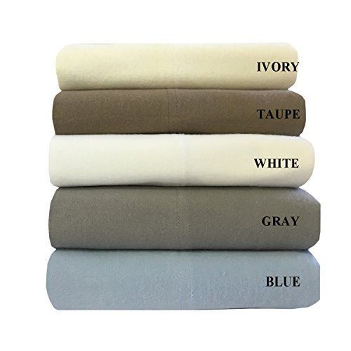 Royal's Heavy Soft 100% Cotton Flannel Pillowcases, Pair/ 2 Pillow Cases Set, Solid, Thick, Heavy and Ultra soft Cotton Flannel, Taupe, King - Cotton Flannel Pillowcase