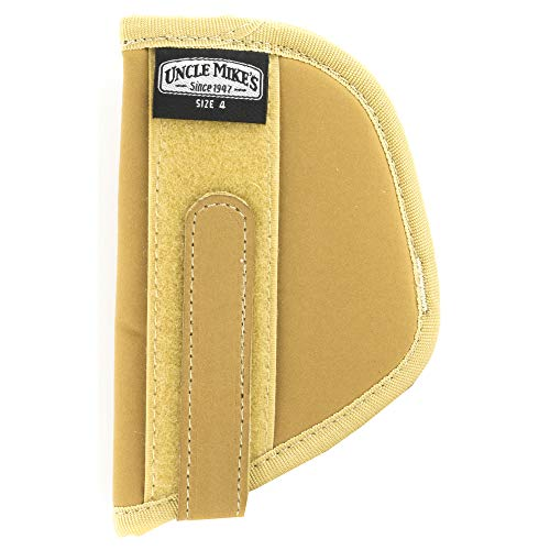 Law Armor Body Enforcement (Uncle Mike's Off-Duty and Concealment Neutral Nylon Body Armour Holster (Size 4, Light Brown))