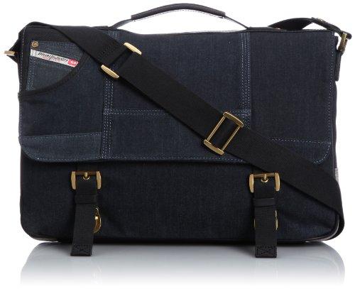 Diesel Home Of The Brave Crosswing Bag,Blue Denim/Grey,One Size