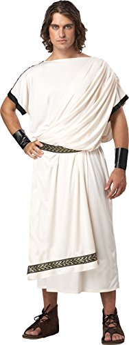 UHC Men's Toga Classic Grecian Celebration Theme Party Adult Halloween Costume, (Cheap Toga Costumes)