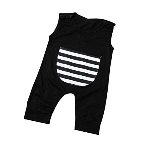TIFENNY Baby Boy Sleeveless Stripe Romper Jumpsuit, Clearance! (0-6M)