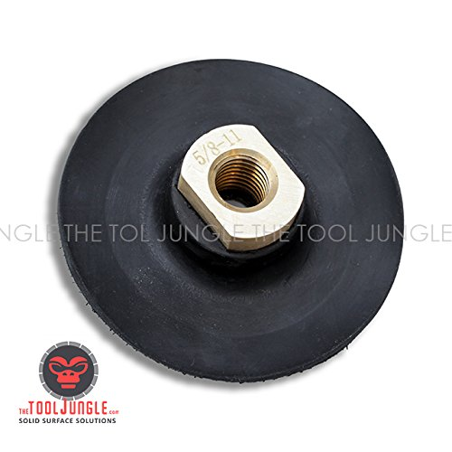 4 Inch Super Flex Thin Rubber Backer pad Velcro 5/8-11 Female thread for Diamond Polishing pads