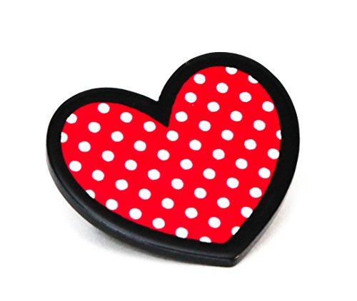 Valentine's Day Heart Polka Dot Brooch Pinback Button ()