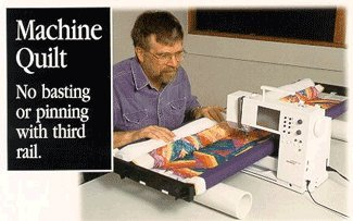 quilting machine and frame - 1